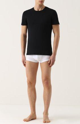 Мужские хлопковая футболка  LA PERLA черного цвета, арт. P022168 | Фото 2