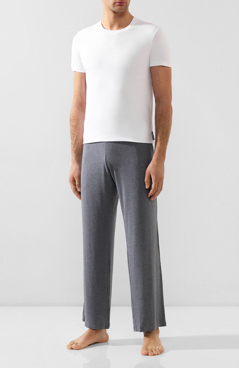 Хлопковая футболка с круглым вырезом Dolce & Gabbana белая | Фото №2