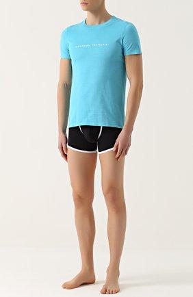 Хлопковая футболка с круглым вырезом Garcon Francais серая   Фото №1