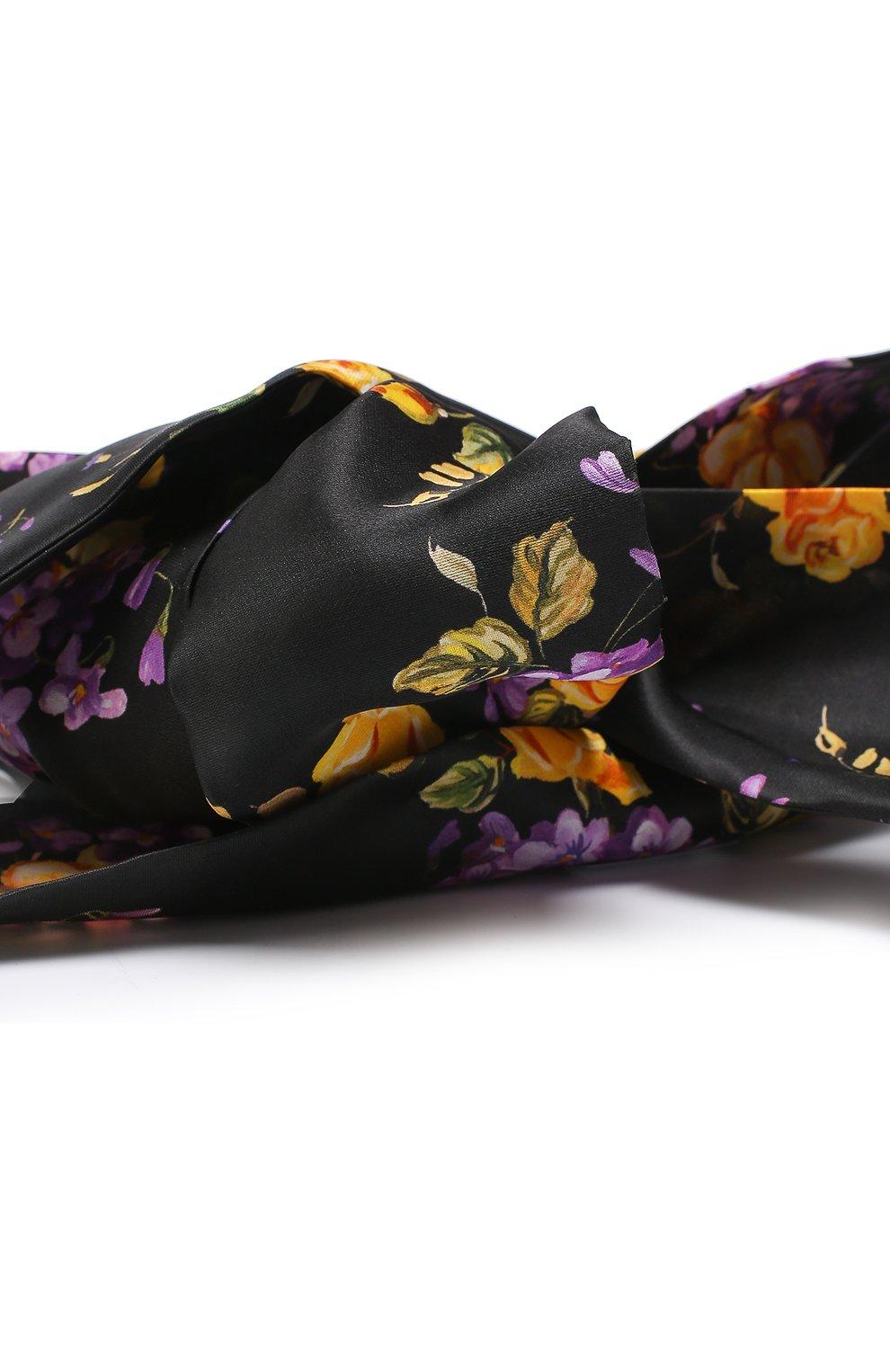 Ободок из шелка с принтом Dolce & Gabbana сиреневого цвета | Фото №3