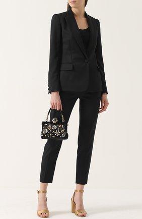 Клатч Vanda с отделкой кристаллами Dolce & Gabbana черного цвета | Фото №2