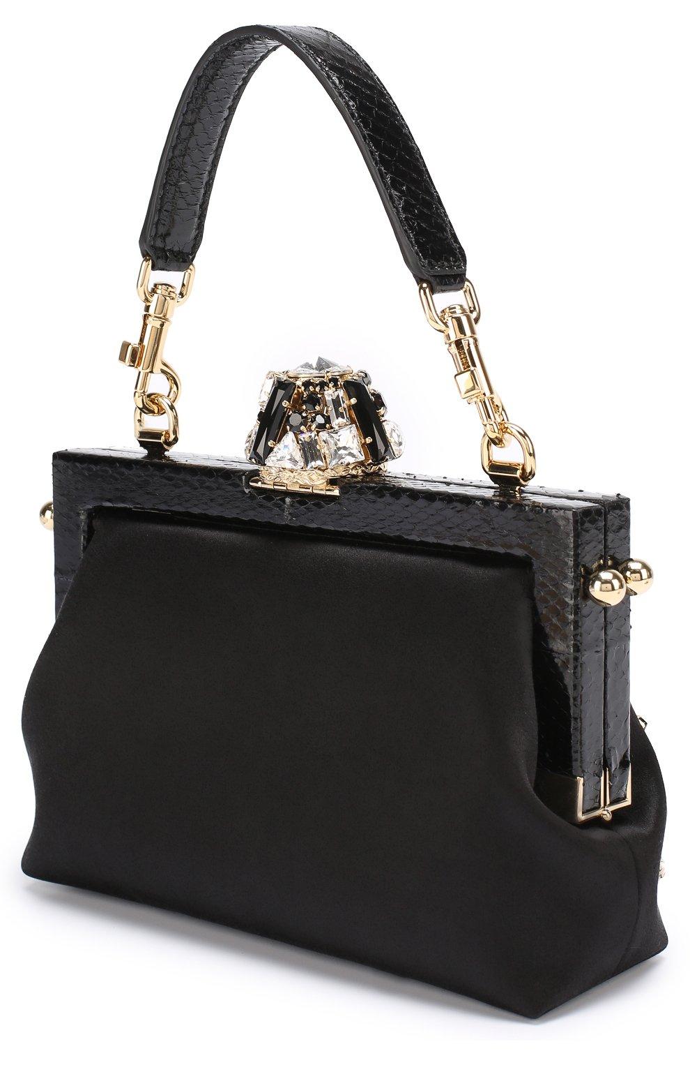 Клатч Vanda с отделкой кристаллами Dolce & Gabbana черного цвета | Фото №3