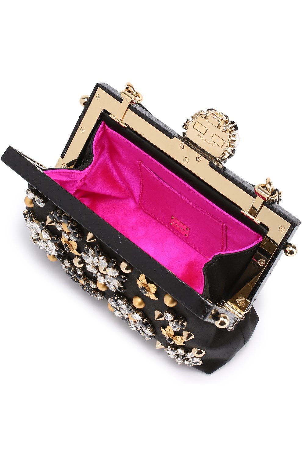 Клатч Vanda с отделкой кристаллами Dolce & Gabbana черного цвета | Фото №4