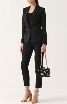 Клатч Vanda с отделкой кристаллами Dolce & Gabbana черного цвета | Фото №5