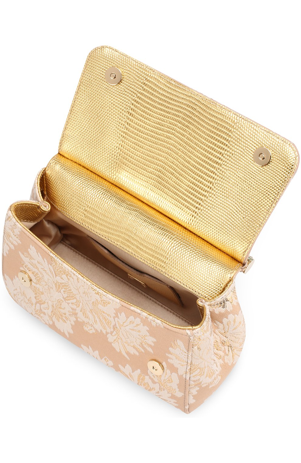 Сумка Sicily small с отделкой кристаллами Limited edition Dolce & Gabbana золотого цвета   Фото №4