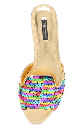 Шлепанцы Bianca с пайетками Dolce & Gabbana разноцветные | Фото №5