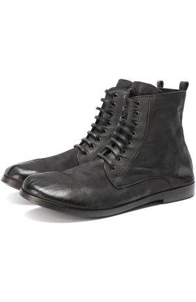 Кожаные ботинки с эффектом состаривания | Фото №1