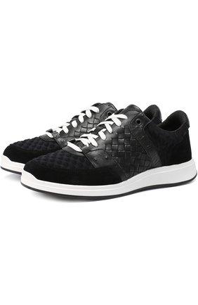 Комбинированные кроссовки с плетением intrecciato | Фото №1