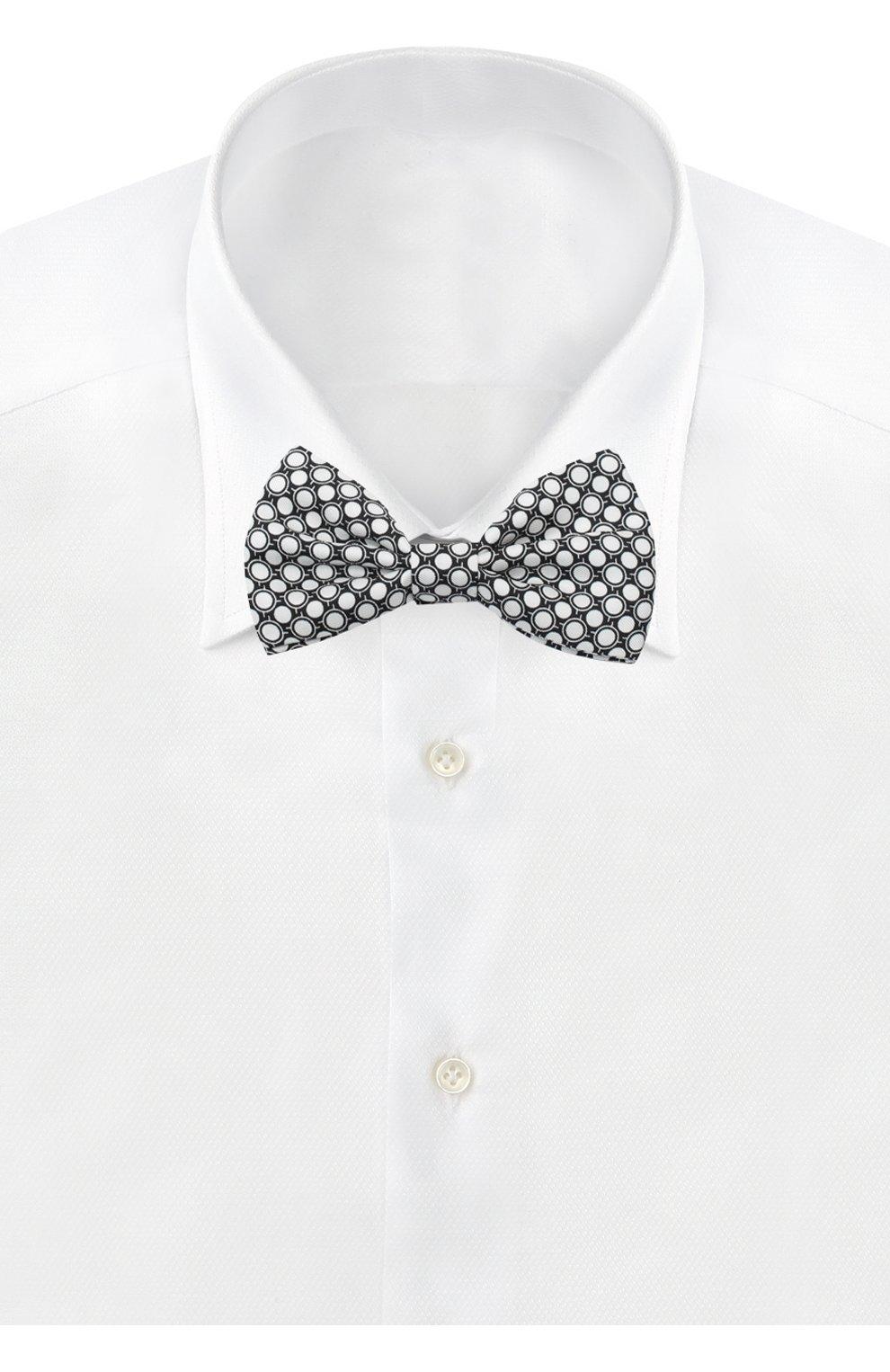Шелковый галстук-бабочка Dolce & Gabbana черно-белого цвета   Фото №2
