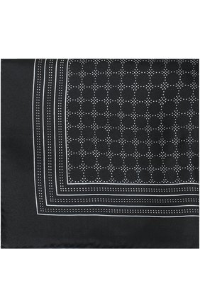 Шелковый платок с узором Dolce & Gabbana черный | Фото №1