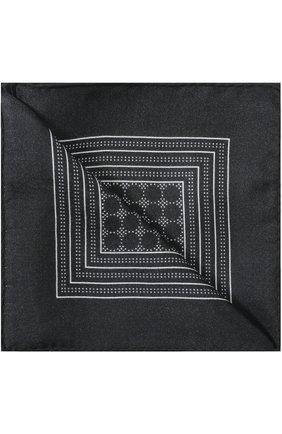 Шелковый платок с узором Dolce & Gabbana черный | Фото №2