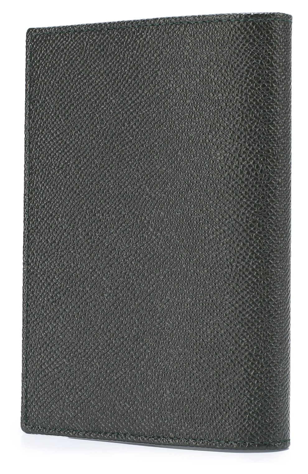 Кожаная обложка для паспорта с отделениями для кредитных карт Dolce & Gabbana зеленого цвета | Фото №2