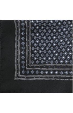Шелковый платок с узором Dolce & Gabbana синий | Фото №1