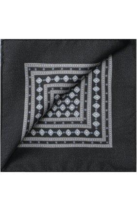 Шелковый платок с узором Dolce & Gabbana синий | Фото №2