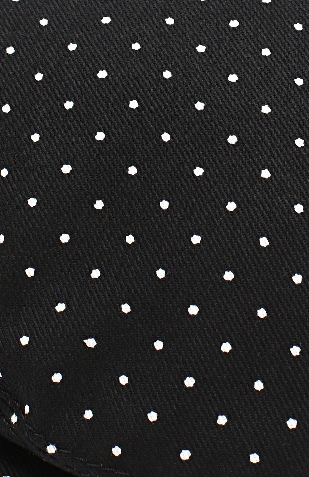 Хлопковое кепи с узором Polka Dot Dolce & Gabbana черного цвета | Фото №4