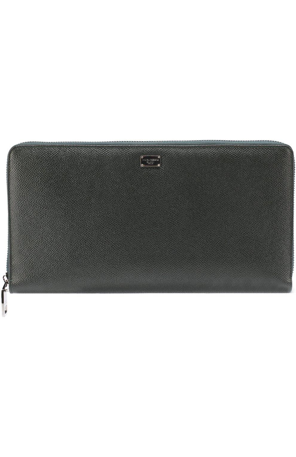 Кожаный бумажник на молнии с отделением для кредитных карт | Фото №1