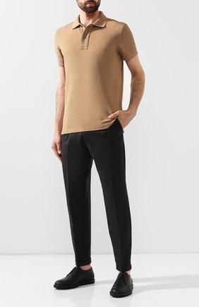Мужской кожаные дерби с круглым мысом и  плетением intrecciato BOTTEGA VENETA черного цвета, арт. 456518/VBAR1 | Фото 2