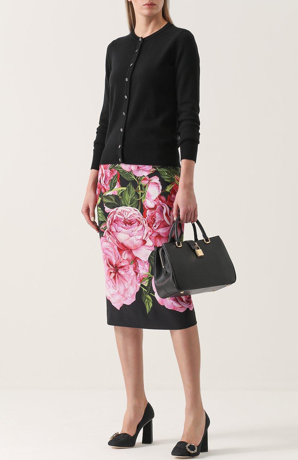 Сумка Dolce Shopping Dolce & Gabbana черная цвета | Фото №2