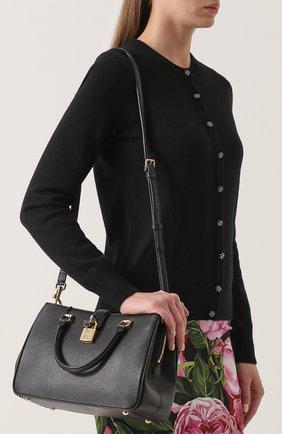 Сумка Dolce Shopping Dolce & Gabbana черная цвета | Фото №5