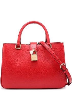 Сумка Dolce Shopping Dolce & Gabbana красная цвета   Фото №1