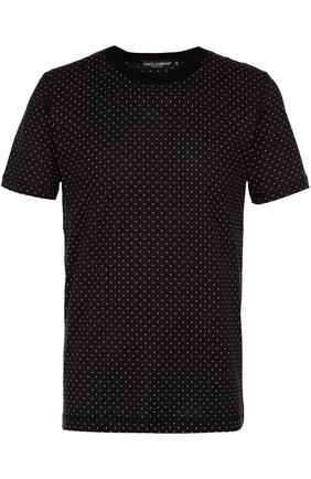 Хлопковая футболка с узором Polka Dot | Фото №1