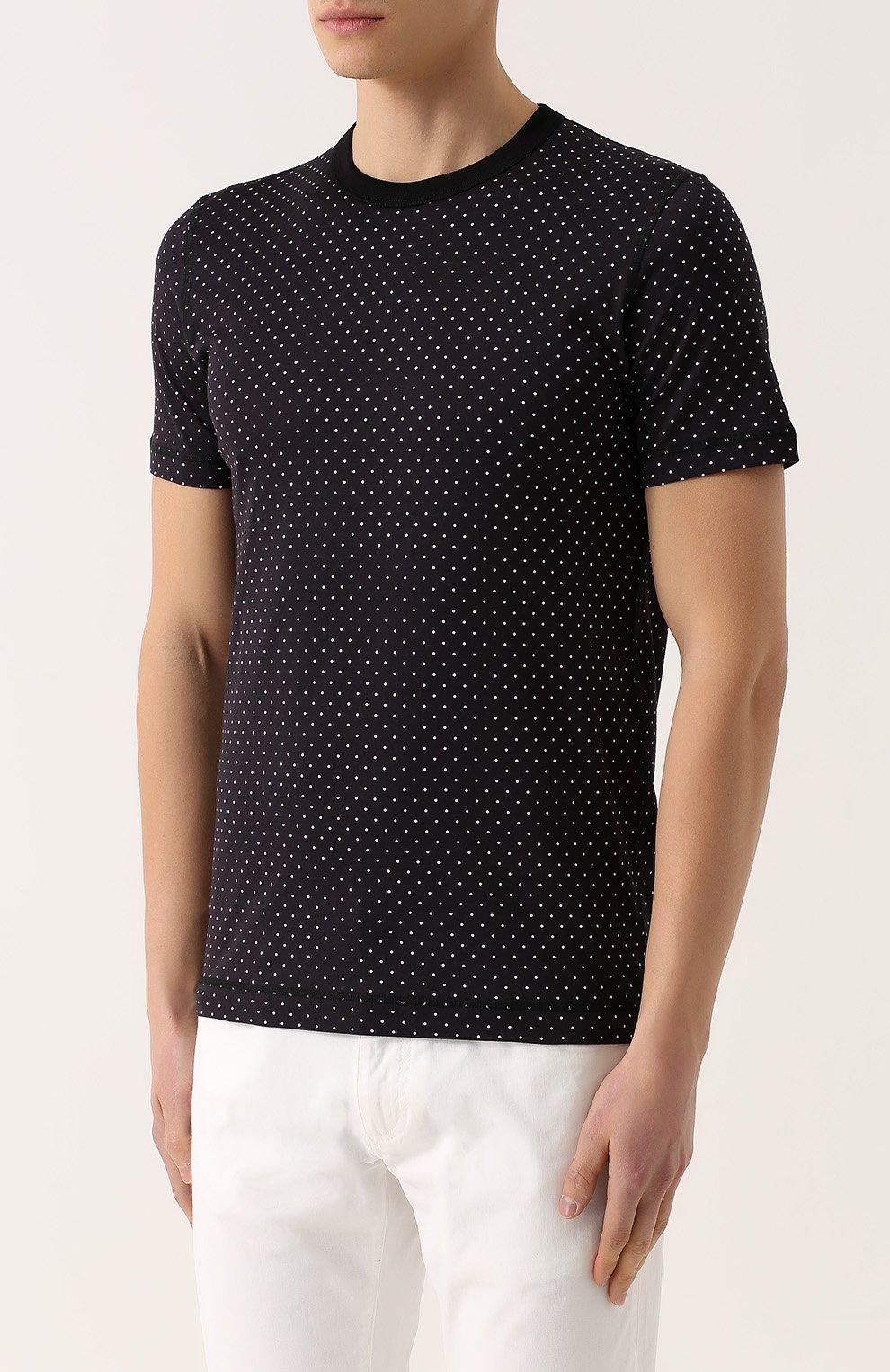 Хлопковая футболка с узором Polka Dot | Фото №3