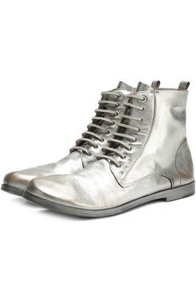 Ботинки из металлизированной кожи | Фото №1