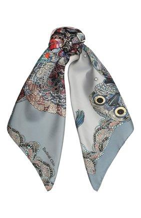 Женский шелковый платок expert RADICAL CHIC серого цвета, арт. 271372.07.02   Фото 1