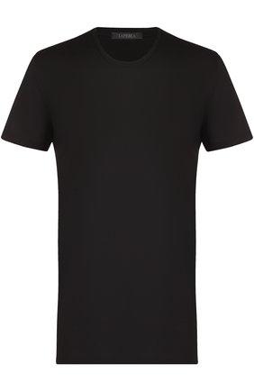 Мужские хлопковая футболка с круглым вырезом LA PERLA черного цвета, арт. 0020151 | Фото 1