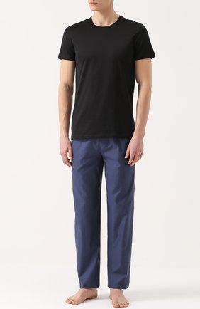 Мужские хлопковая футболка с круглым вырезом LA PERLA черного цвета, арт. 0020151 | Фото 2