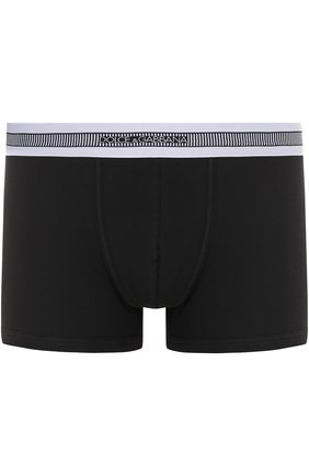 Хлопковые боксеры с широкой резинкой Dolce & Gabbana черные | Фото №1