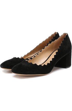 Замшевые туфли Lauren | Фото №1