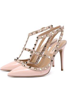 Лаковые туфли Valentino Garavani Rockstud с ремешками | Фото №1
