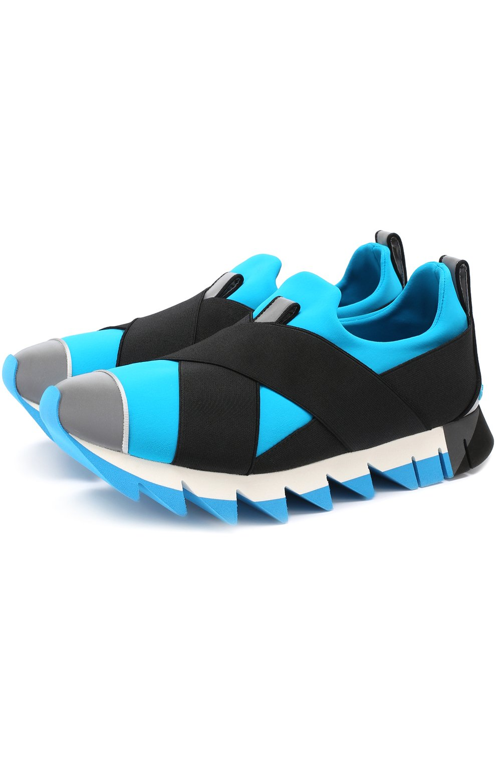 Комбинированные кроссовки Ibiza на рельефной подошве | Фото №1