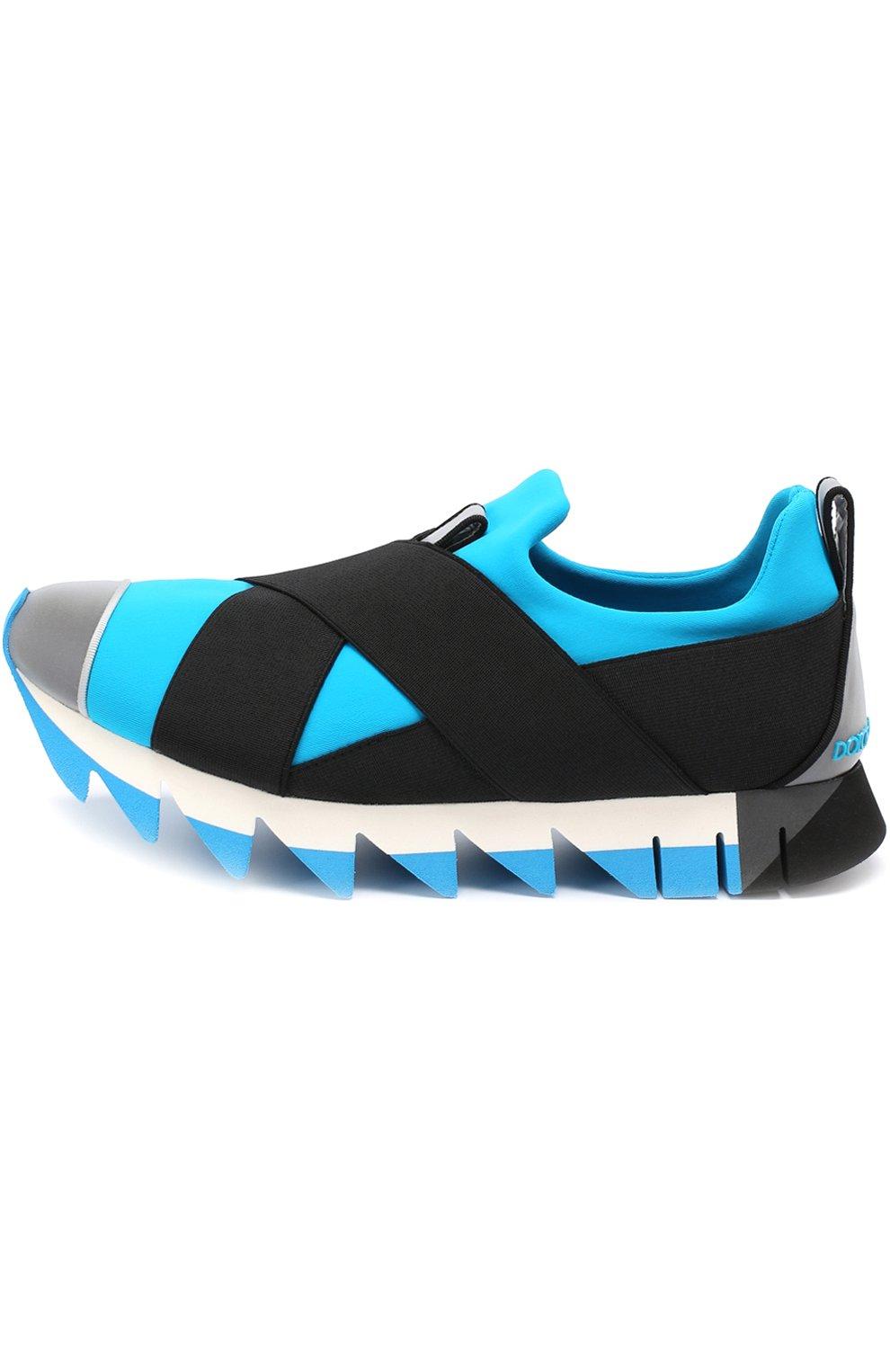 Комбинированные кроссовки Ibiza на рельефной подошве | Фото №2