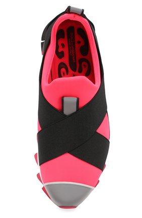 Комбинированные кроссовки Ibiza на рельефной подошве Dolce & Gabbana коралловые | Фото №4
