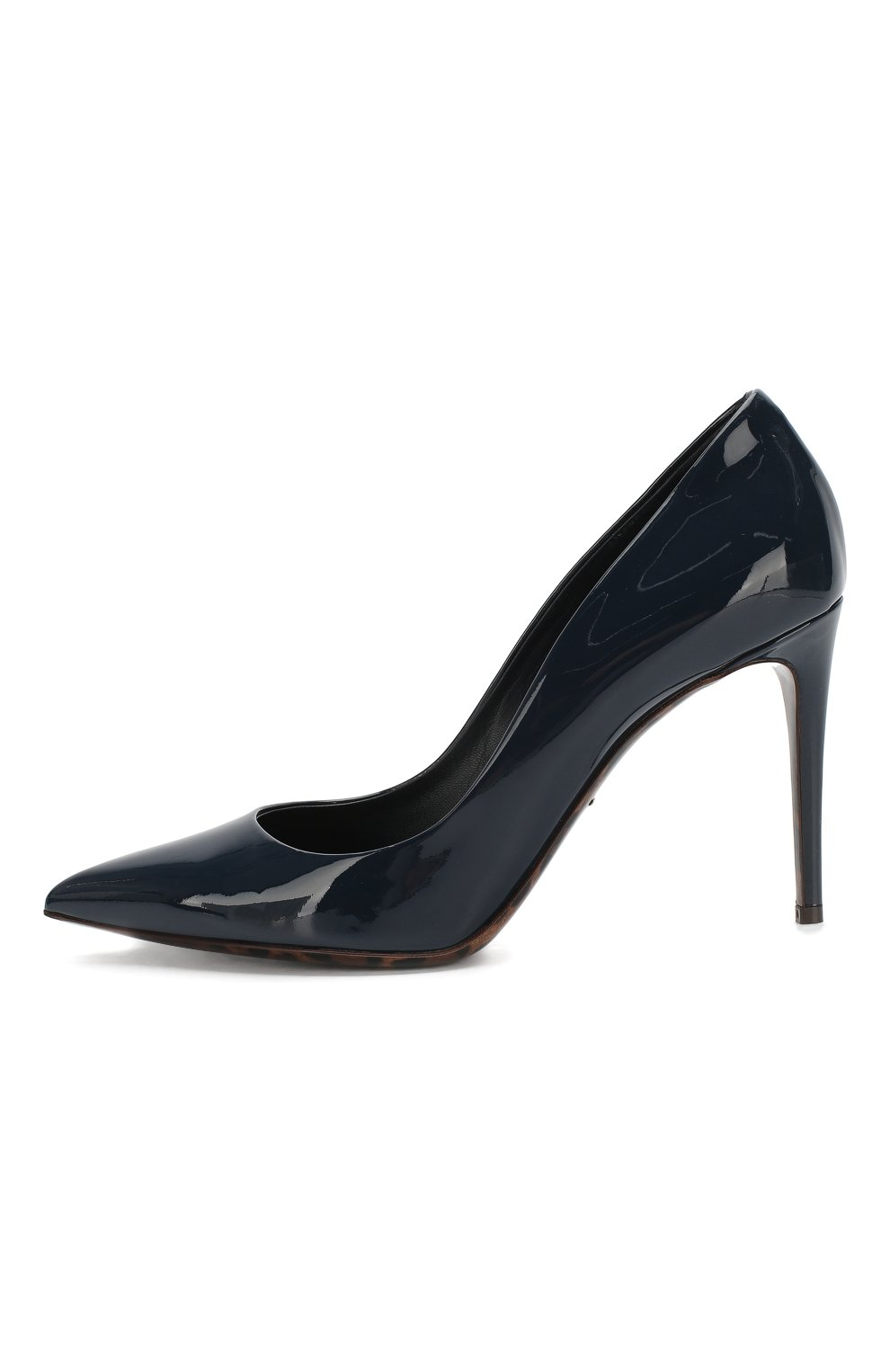 Женские кожаные туфли kate DOLCE & GABBANA темно-синего цвета, арт. 0112/CD0039/AC062 | Фото 3