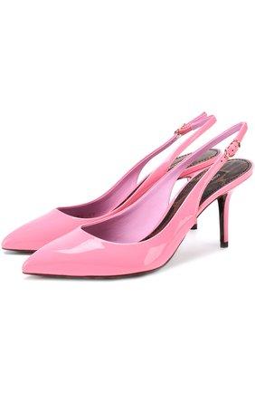 Лаковые туфли Bellucci на шпильке Dolce & Gabbana розовые   Фото №1