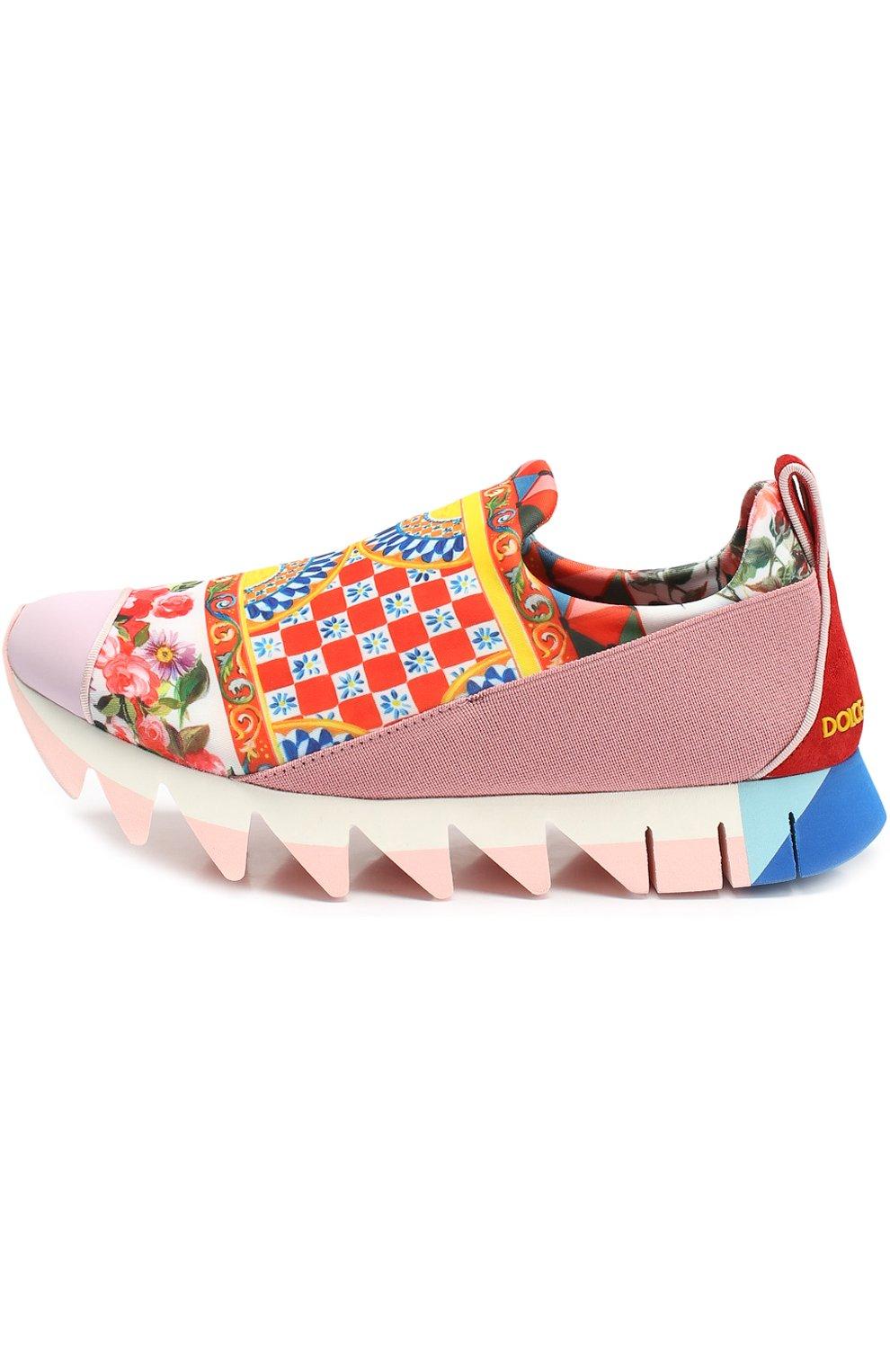 Комбинированные кроссовки Ibiza с принтом на рельефной подошве | Фото №2