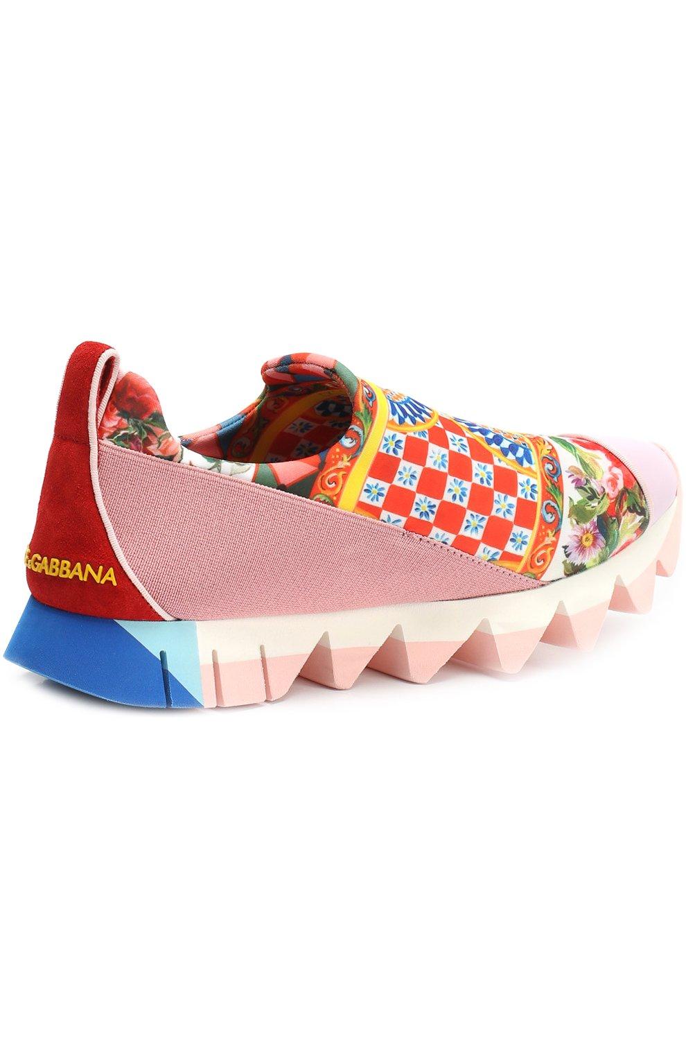 Комбинированные кроссовки Ibiza с принтом на рельефной подошве | Фото №3