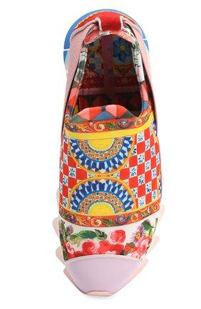 Комбинированные кроссовки Ibiza с принтом на рельефной подошве | Фото №4