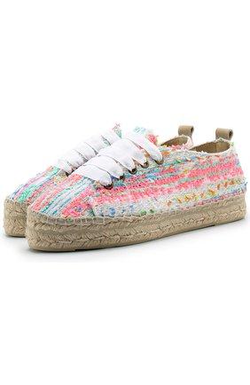 Текстильные эспадрильи на шнуровке Manebi разноцветные | Фото №1