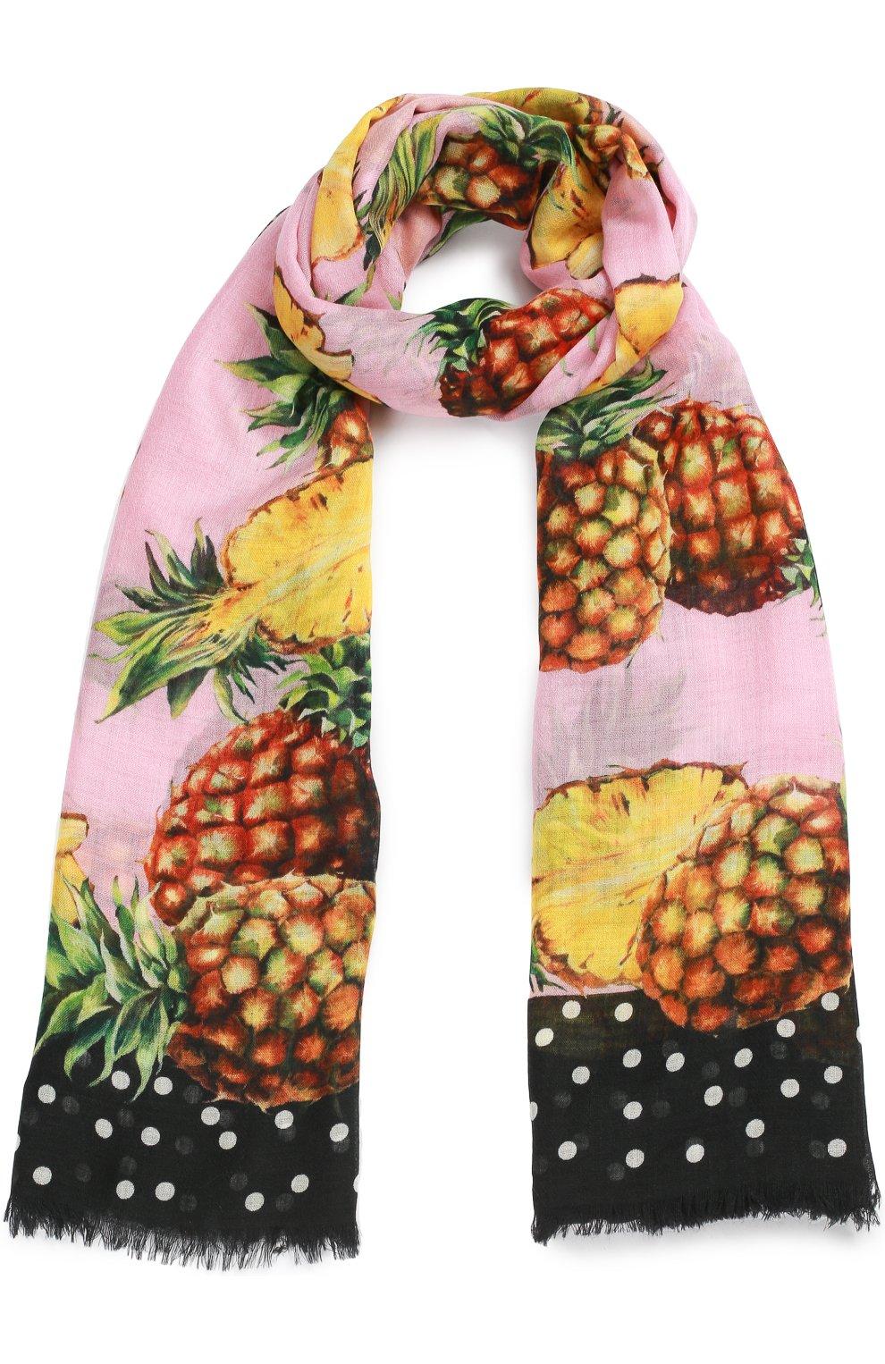 Кашемировый шарф с принтом   Фото №1