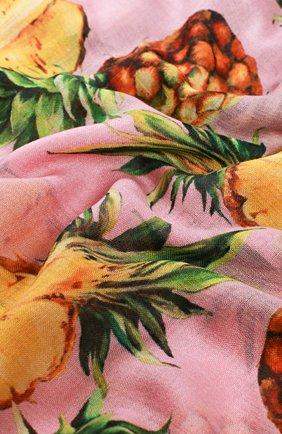 Кашемировый шарф с принтом Dolce & Gabbana разноцветный   Фото №2