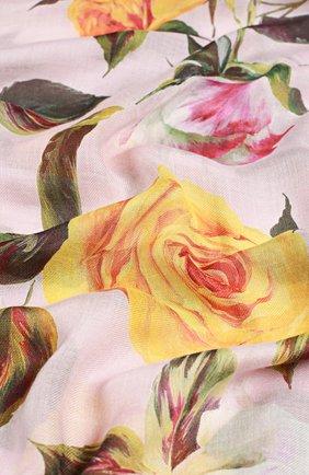 Шарф с принтом Dolce & Gabbana розовый | Фото №2