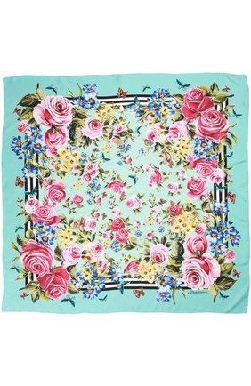 Шелковый платок с принтом | Фото №2