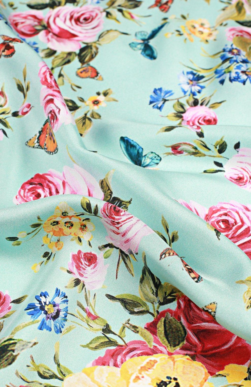 Шелковый платок с принтом | Фото №3