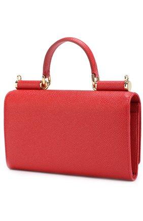 Сумка Sicily Von на цепочке Dolce & Gabbana красного цвета   Фото №2