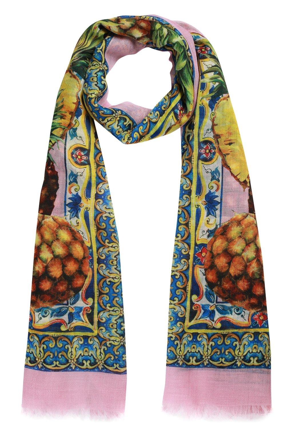 Кашемировый шарф с принтом | Фото №1