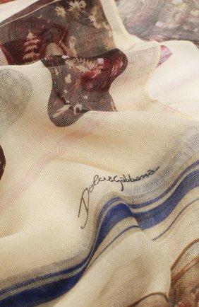 Шарф с принтом из смеси кашемира и шелка   Фото №2